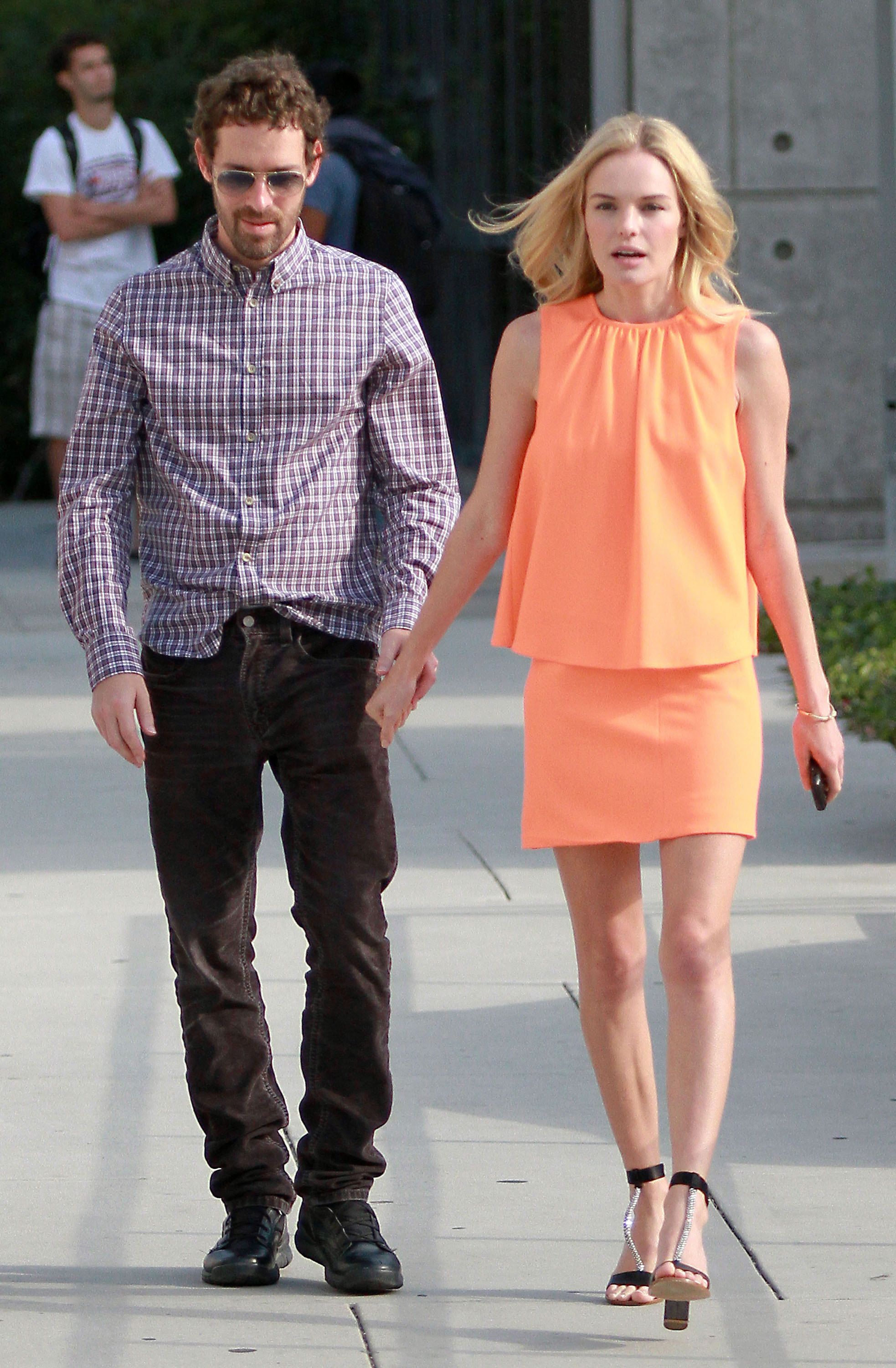 Kate Bosworth and her boyfriend.