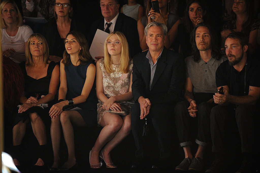 Dakota and Sofia were among the limited number of guests invited to the viewing.