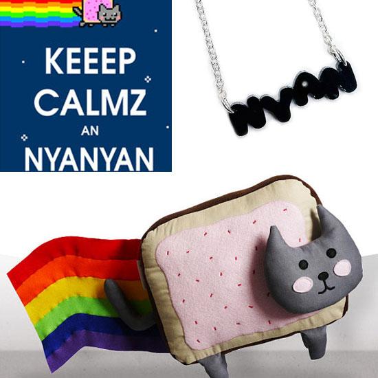 Nyan Cat Stuffed Animal, Buttons, Prints and T-Shirt