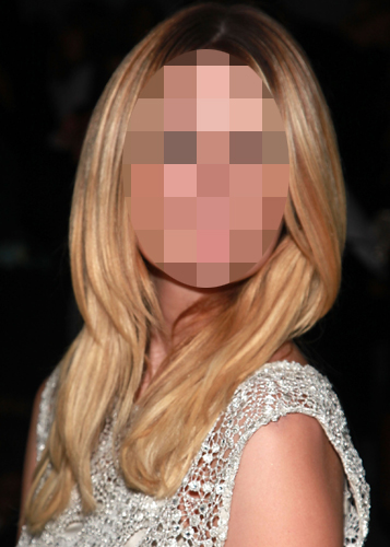 Guess Which Blonde Actress Was Front Row at Fashion Week?