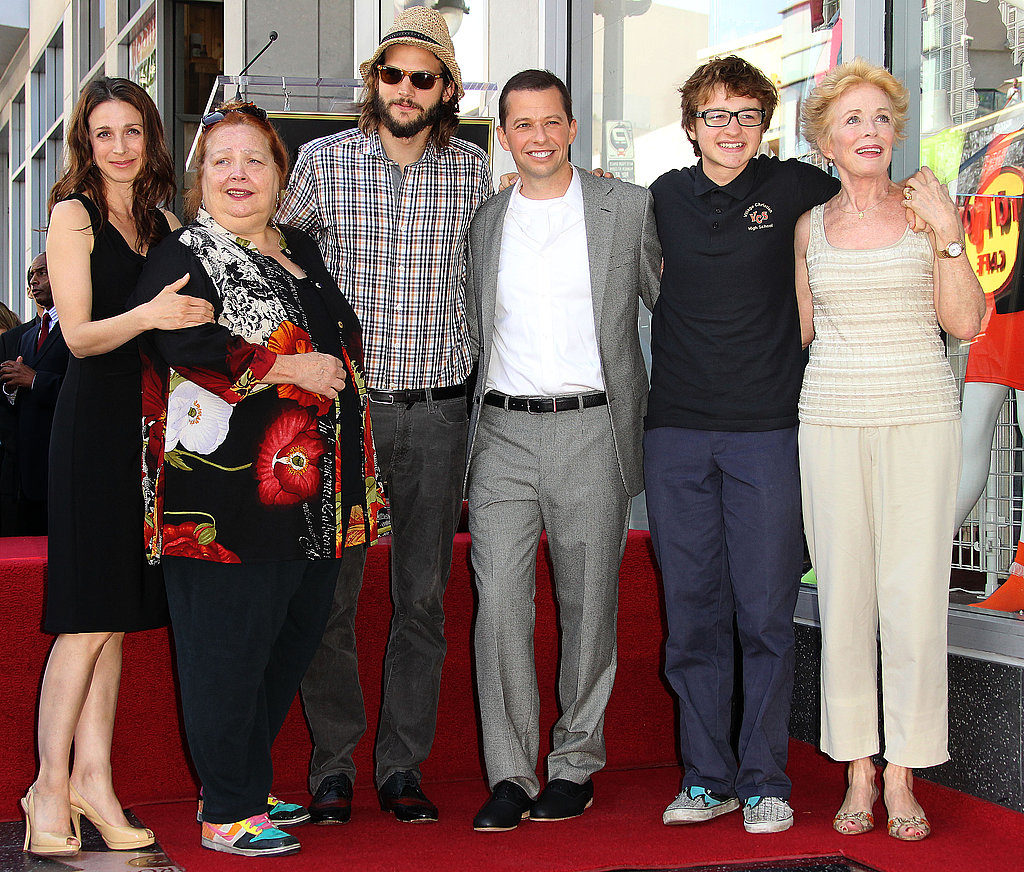 Supporting Jon Cryer as he's honoured with a star on the Hollywood Walk of Fame with their Two and a Half Men castmates in September 2011.