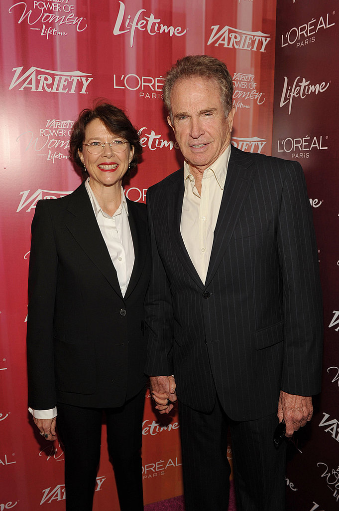 Honoree Annette Bening was joined at the luncheon by Warren Beatty.