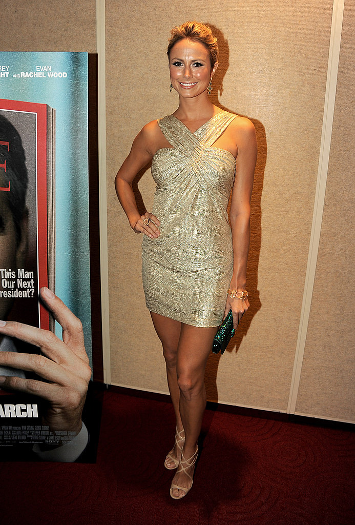 Stacy Keibler posed solo at the The Ides of March LA premiere.