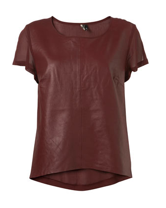 Switch up your regular white tee for this sleek, leather version. Topshop Leather Tee ($100)