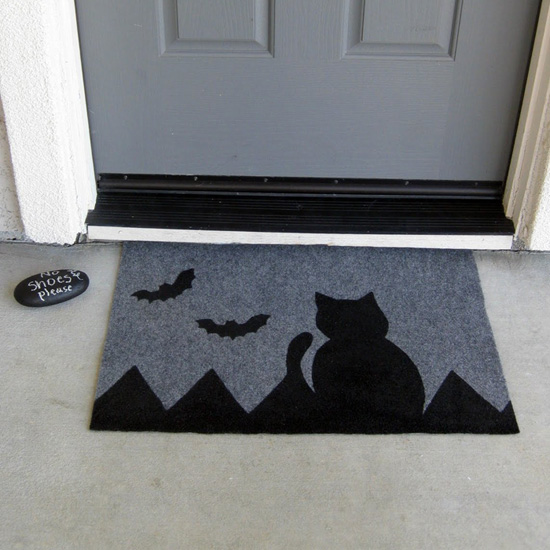 Painted Halloween Doormat