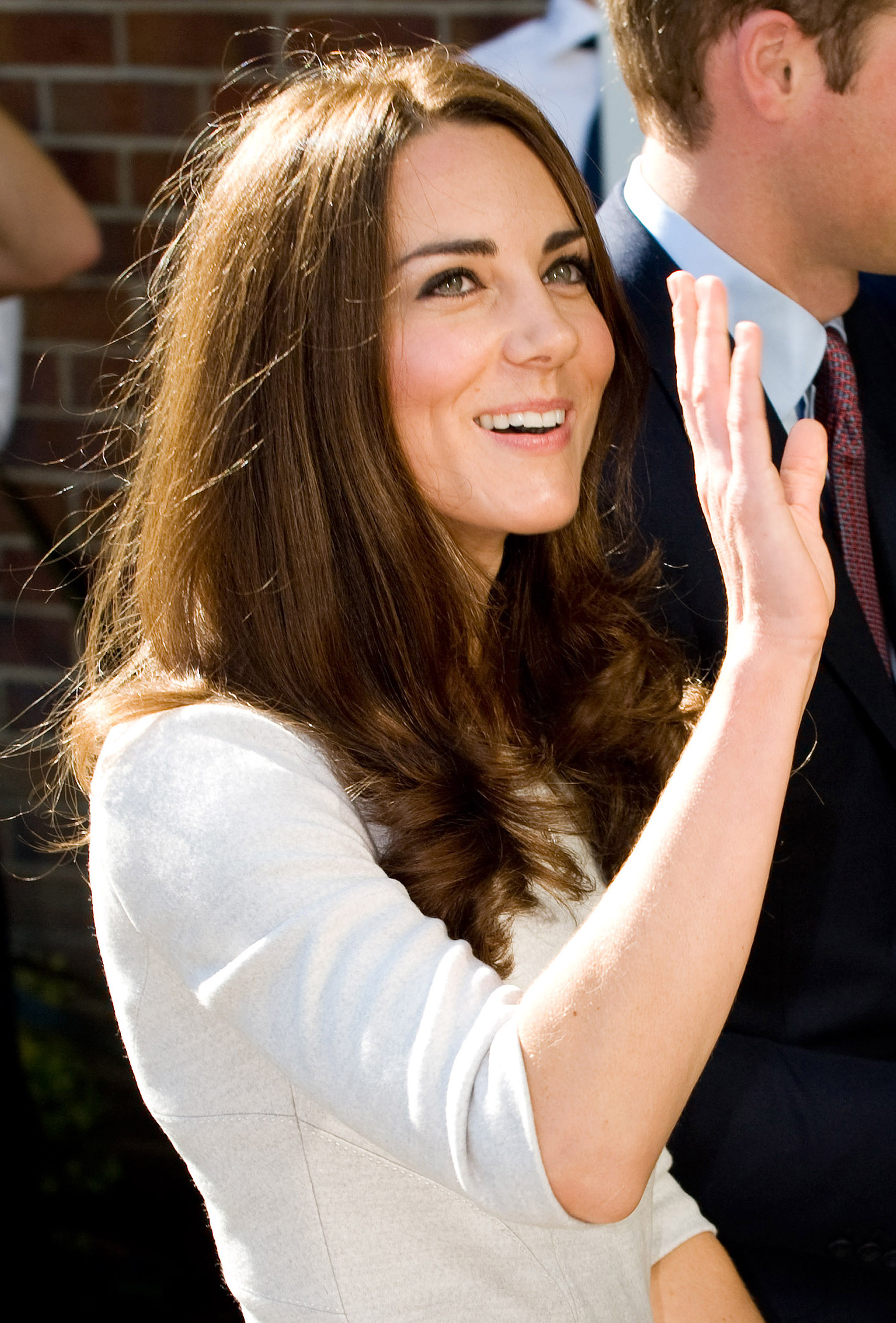 Kate Middleton waved hello.