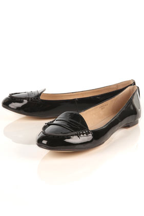 We're embracing the return to classic loafers for Fall, particularly when they look like this, with a femme shape and patent finish. Topshop Marcus Black Patent Loafers ($55)