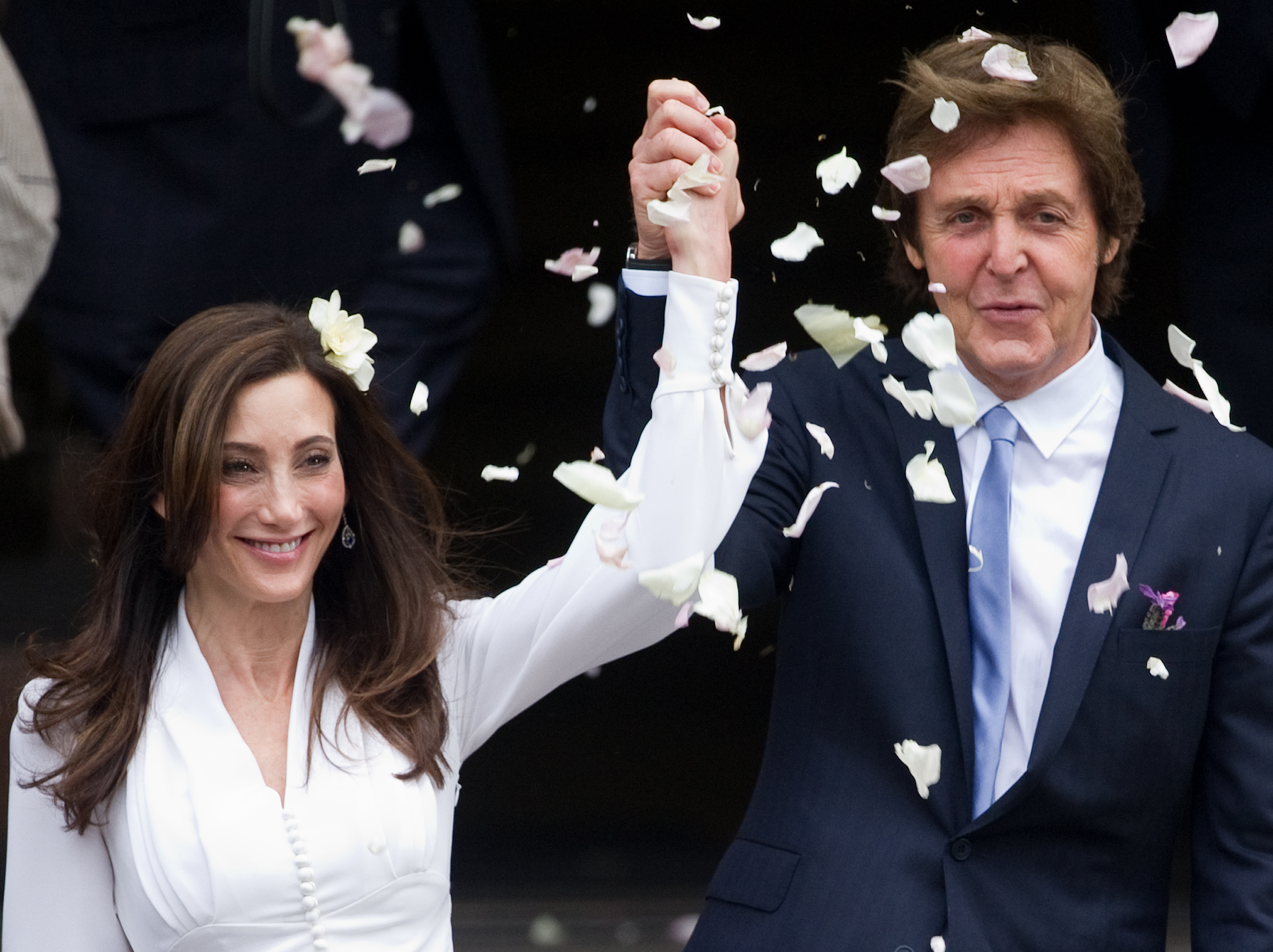 Nancy Shevell and Paul McCartney made their first appearance as man and wife!