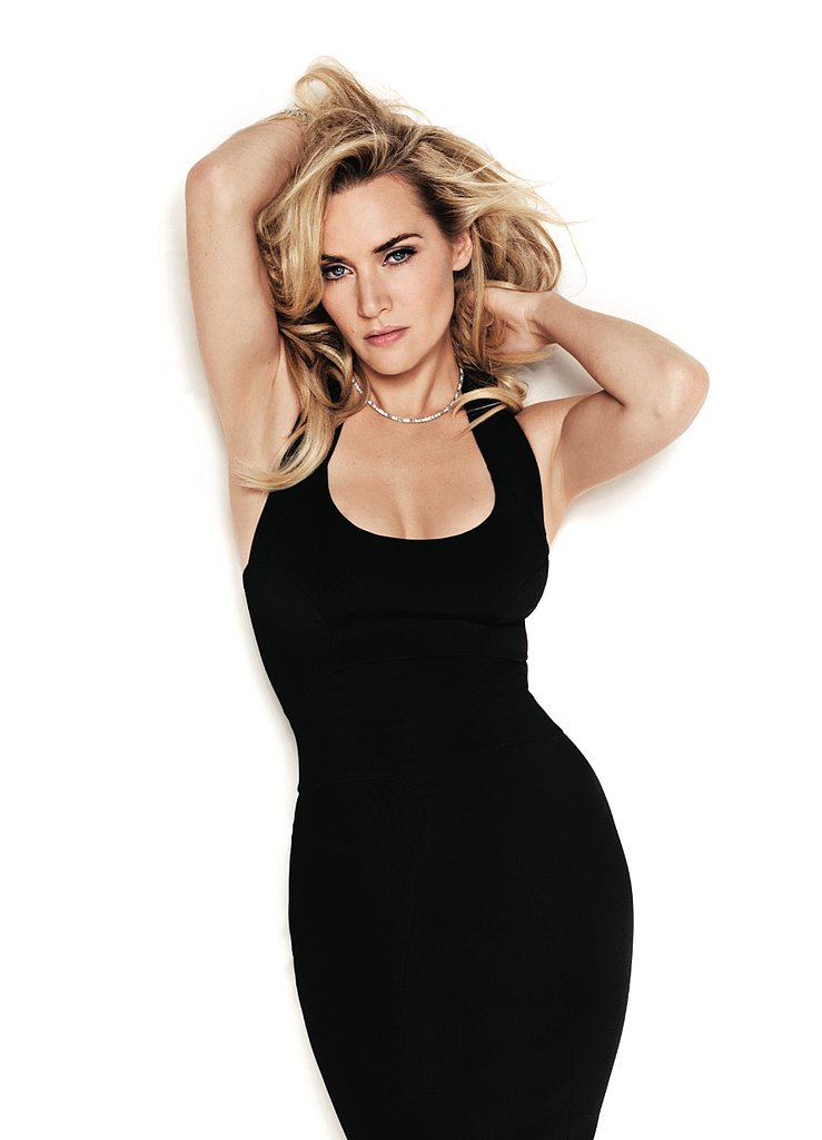 In the March 2011 issue of Glamour, Kate Winslet  posed in a slinky black dress.