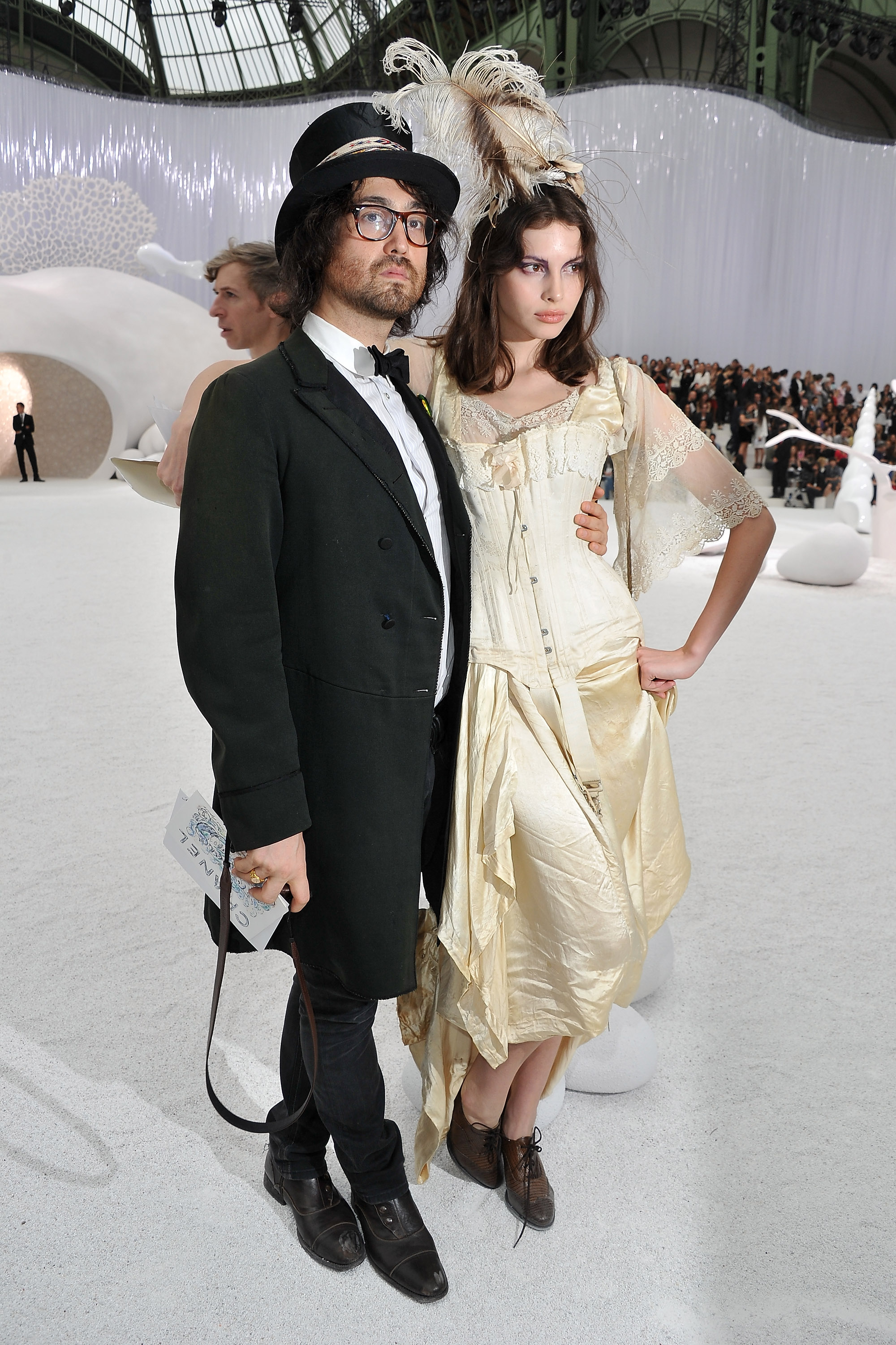 Sean Lennon at Paris Fashion Week.