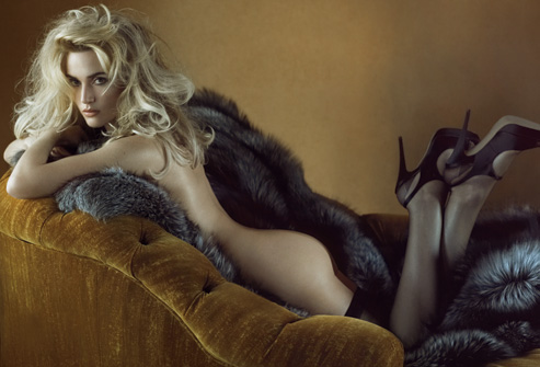 Kate Winslet  went nude for a 2008 Vanity Fair spread.