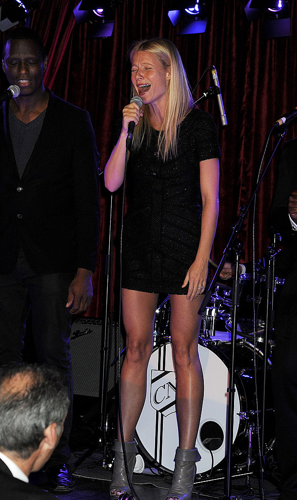 Gwyneth Paltrow looked comfortable on stage in London.