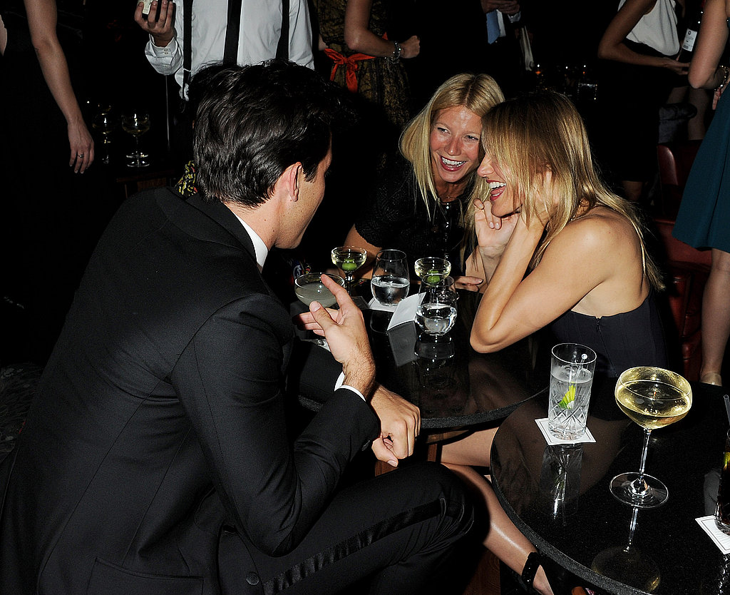 Gwyneth Paltrow laughed with friends at a private party in London.