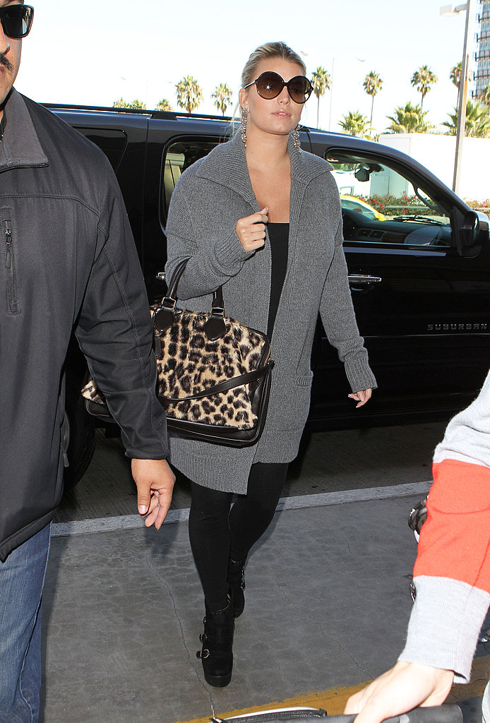 Jessica Simpson headed out of town.