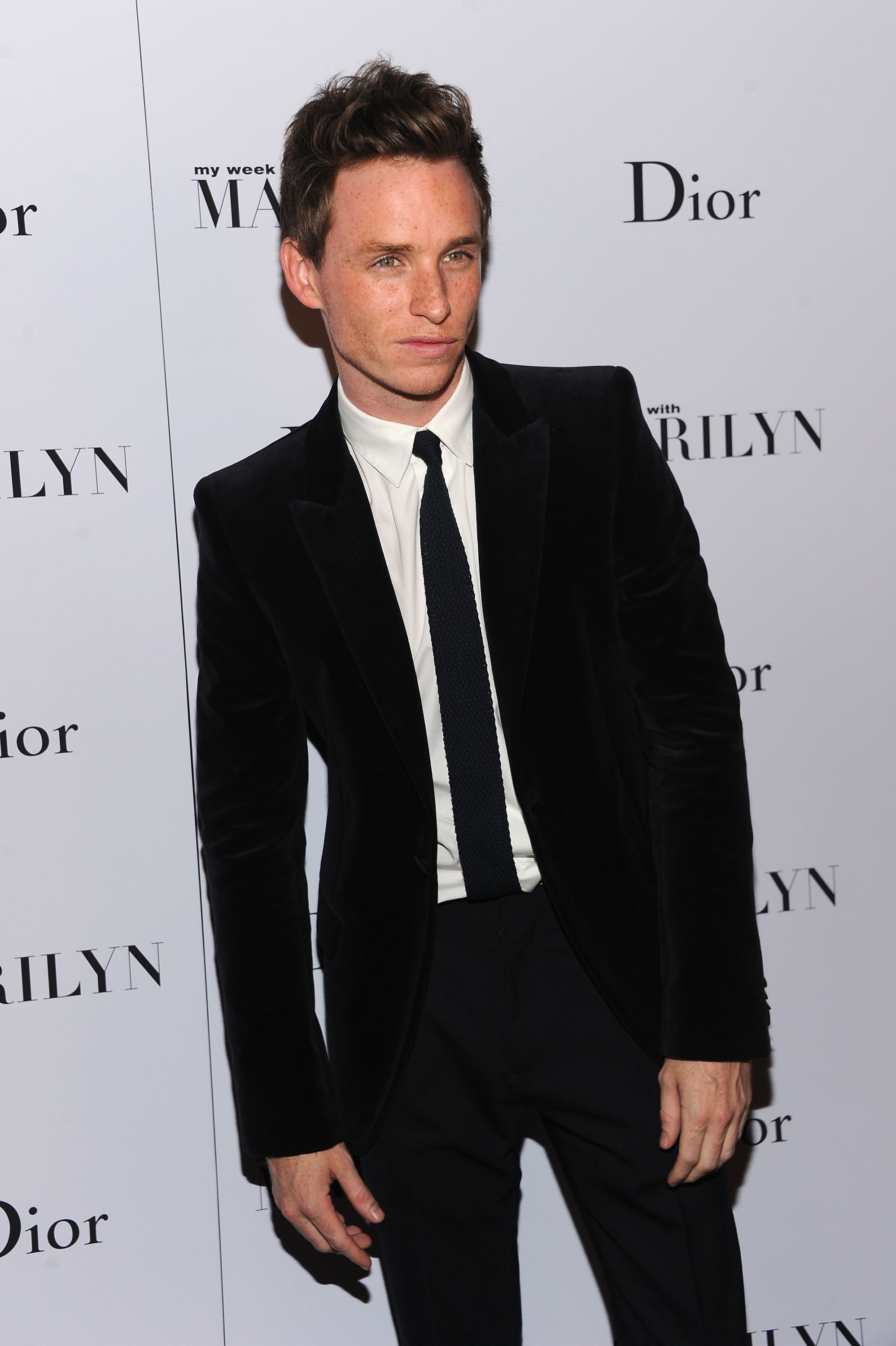 Eddie Redmayne made the rounds at Dior's after party for My Week With Marilyn.
