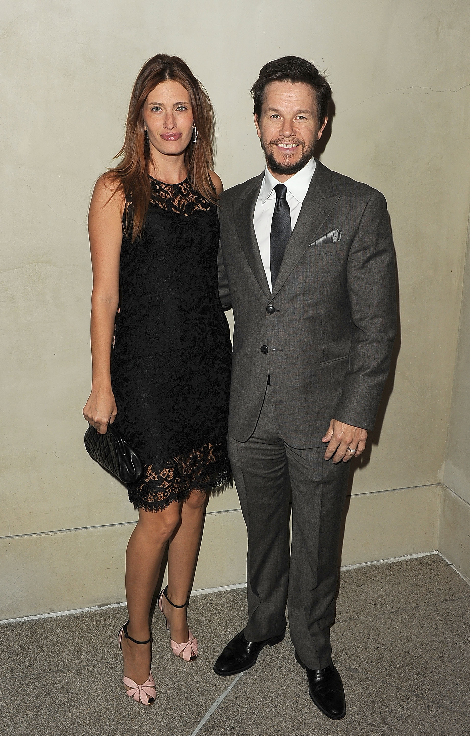 Mark Wahlberg and Rhea Durham dressed to the nines for an Armani and Vanity Fair event.