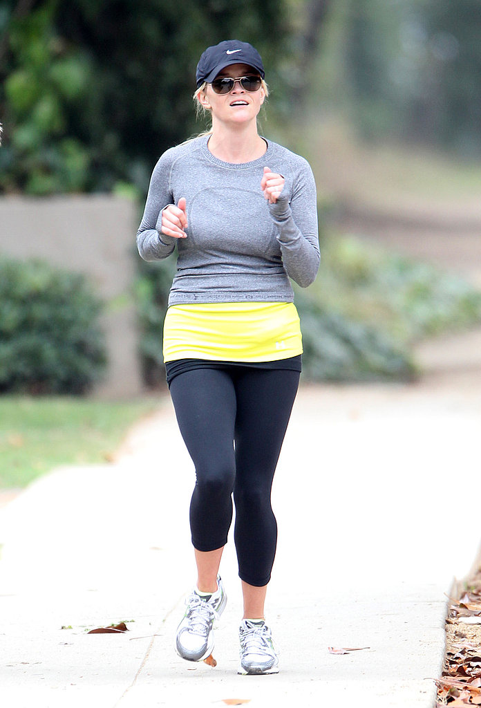 Reese Witherspoon running in LA.