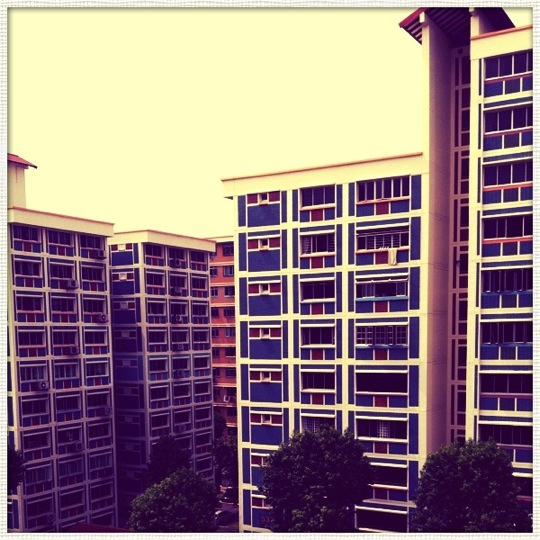 Mid-afternoon high rise