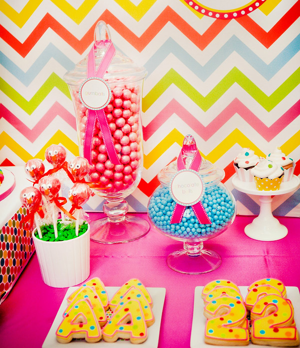 Colorful Baked Goodies and Candies