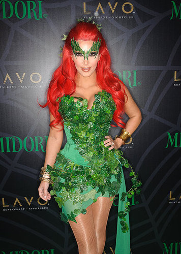 Kim Kardashian was a sexy Poison Ivy at an NYC bash in 2011.