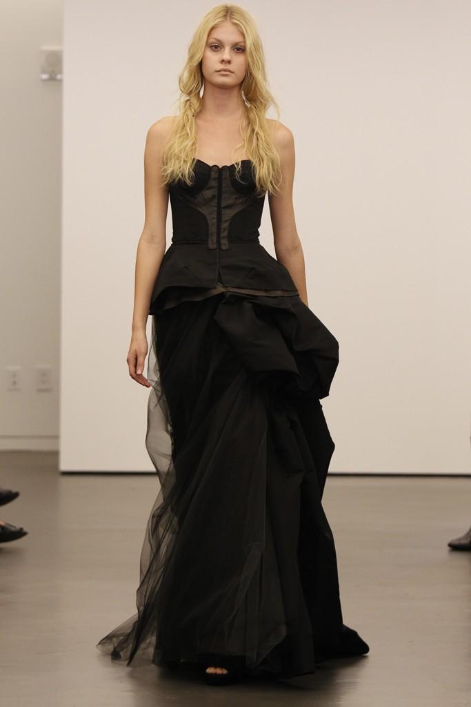 Vera wang black wedding dresses pictures popsugar fashion for Vera wang style wedding dress