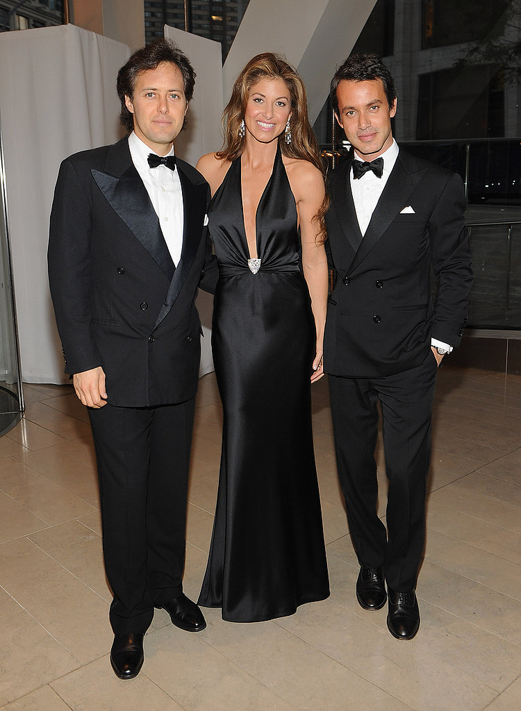 David, Dylan, and Andrew Lauren came out in honor of Ralph Lauren in NYC.