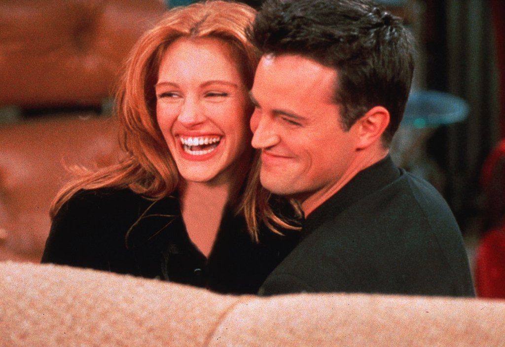 Remember when Julia appeared on an episode of Friends? Here she is flashing her signature smile with Matthew Perry in 1996.
