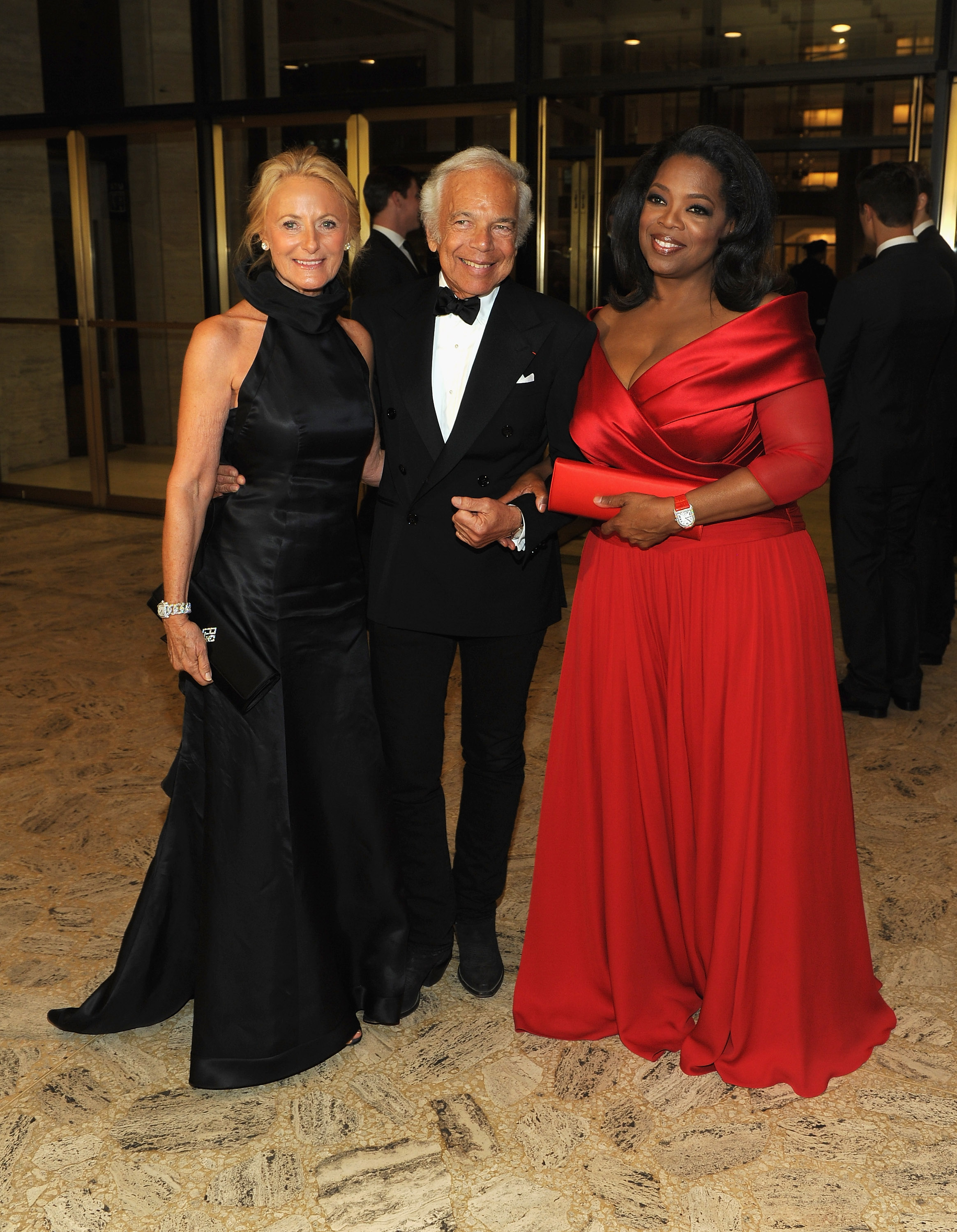 Ralph and Ricky Lauren posed for photos with Oprah.