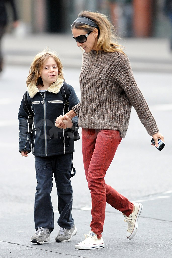 Sarah Jessica Parker dropped James Wilkie off at school.