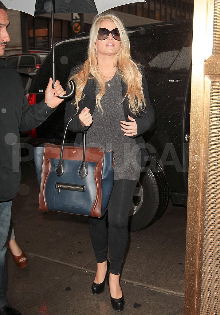 Jessica Simpson got to work in NYC.
