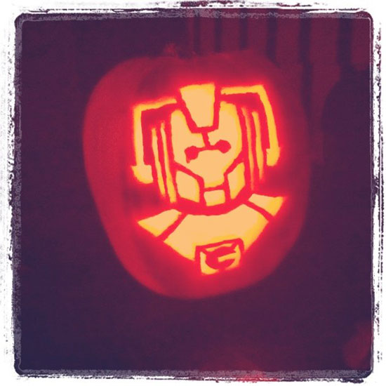 Scary Geek Pumpkin Templates