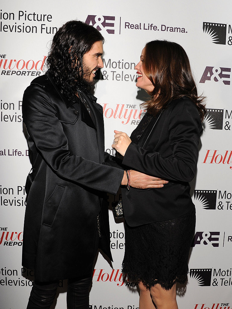"""Russell Brand greeted Jennifer Garner at the Motion Picture & Television Fund's """"Reel Stories, Real Lives"""" in Hollywood."""