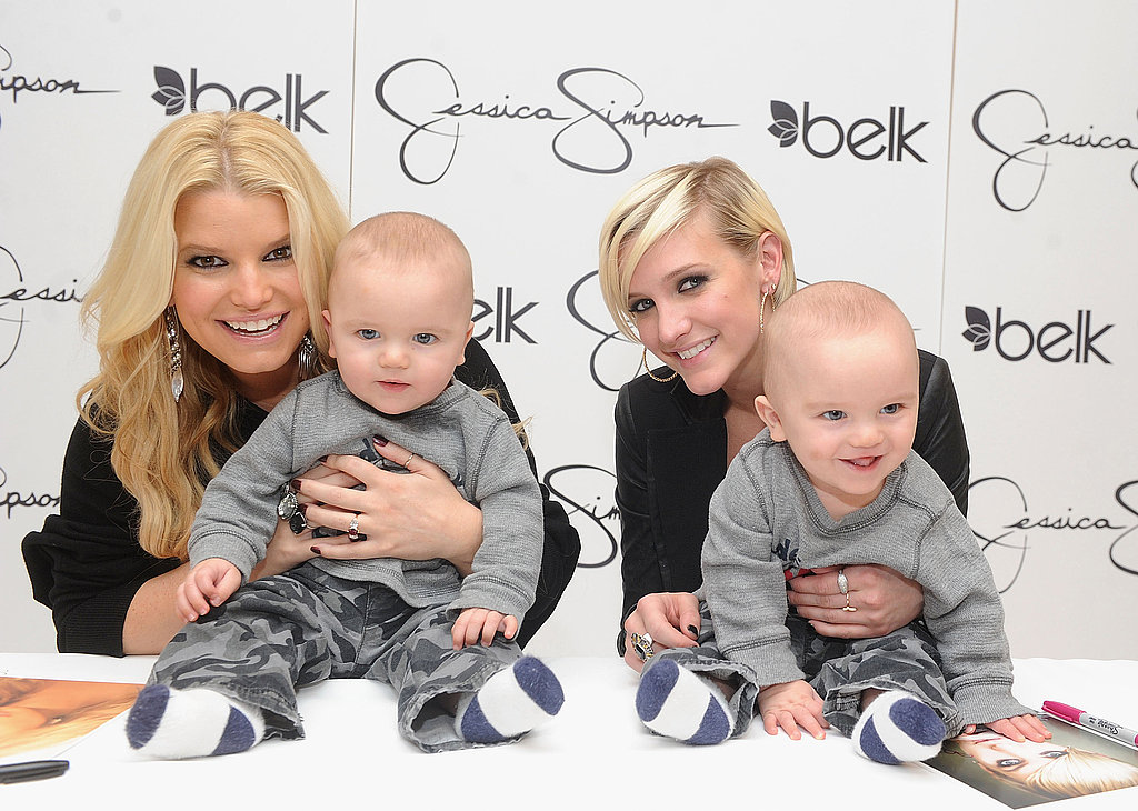 Jessica Simpson and Ashlee Simpson met with young fans.