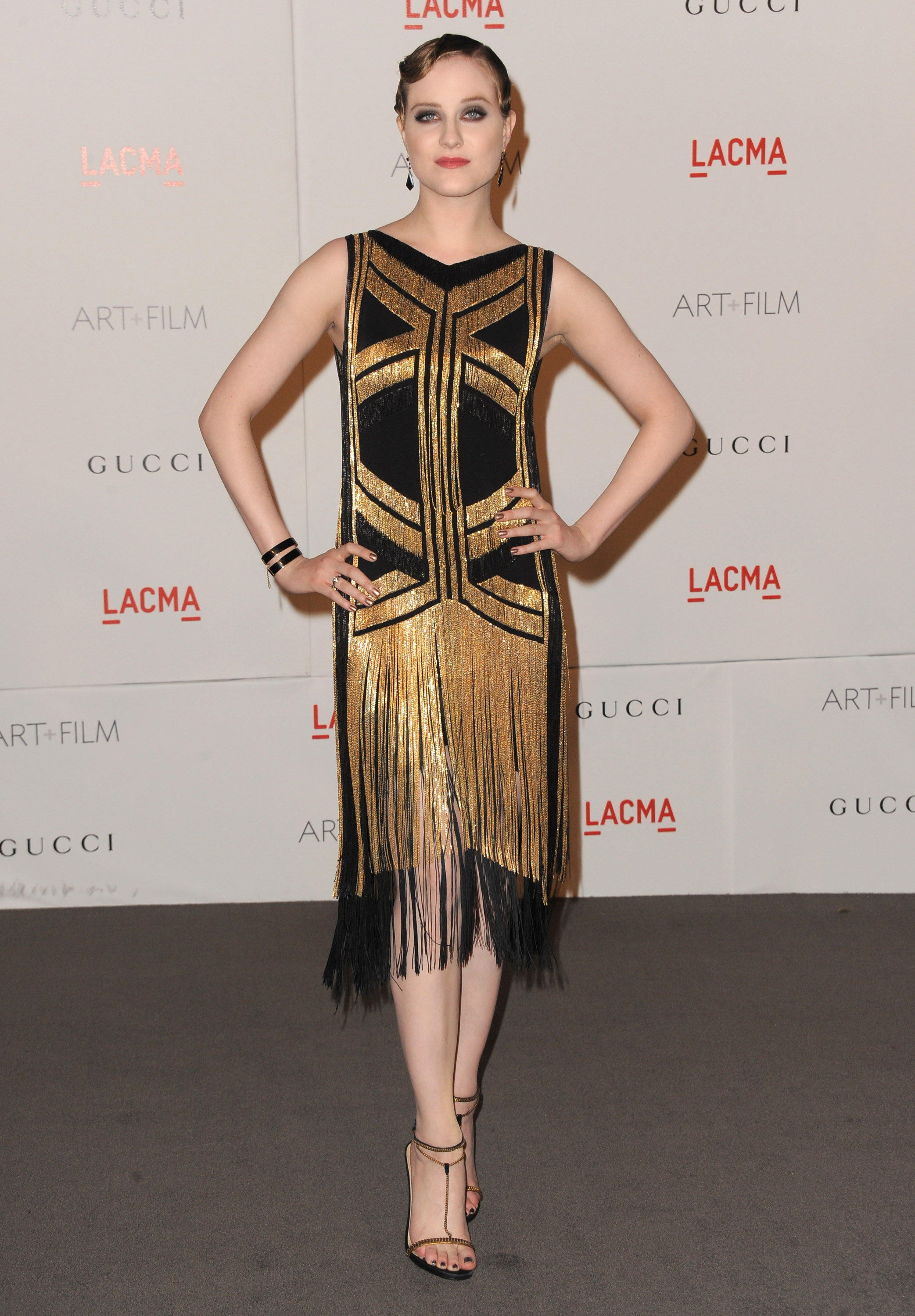 Evan Rachel Wood in Gucci.