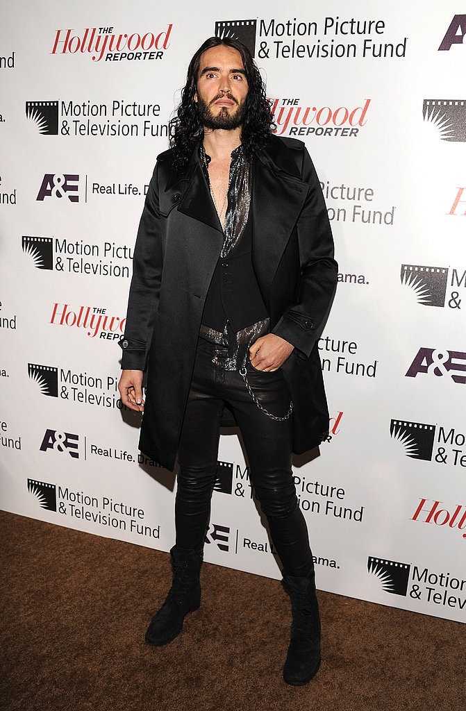 """Russell Brand at the Motion Picture & Television Fund's """"Reel Stories, Real Lives"""" in Hollywood."""