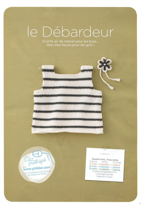 Knitting Pattern Baby Tank Top : Baby Striped Tank Top Knitting Pattern (USD4) DIY Baby ...