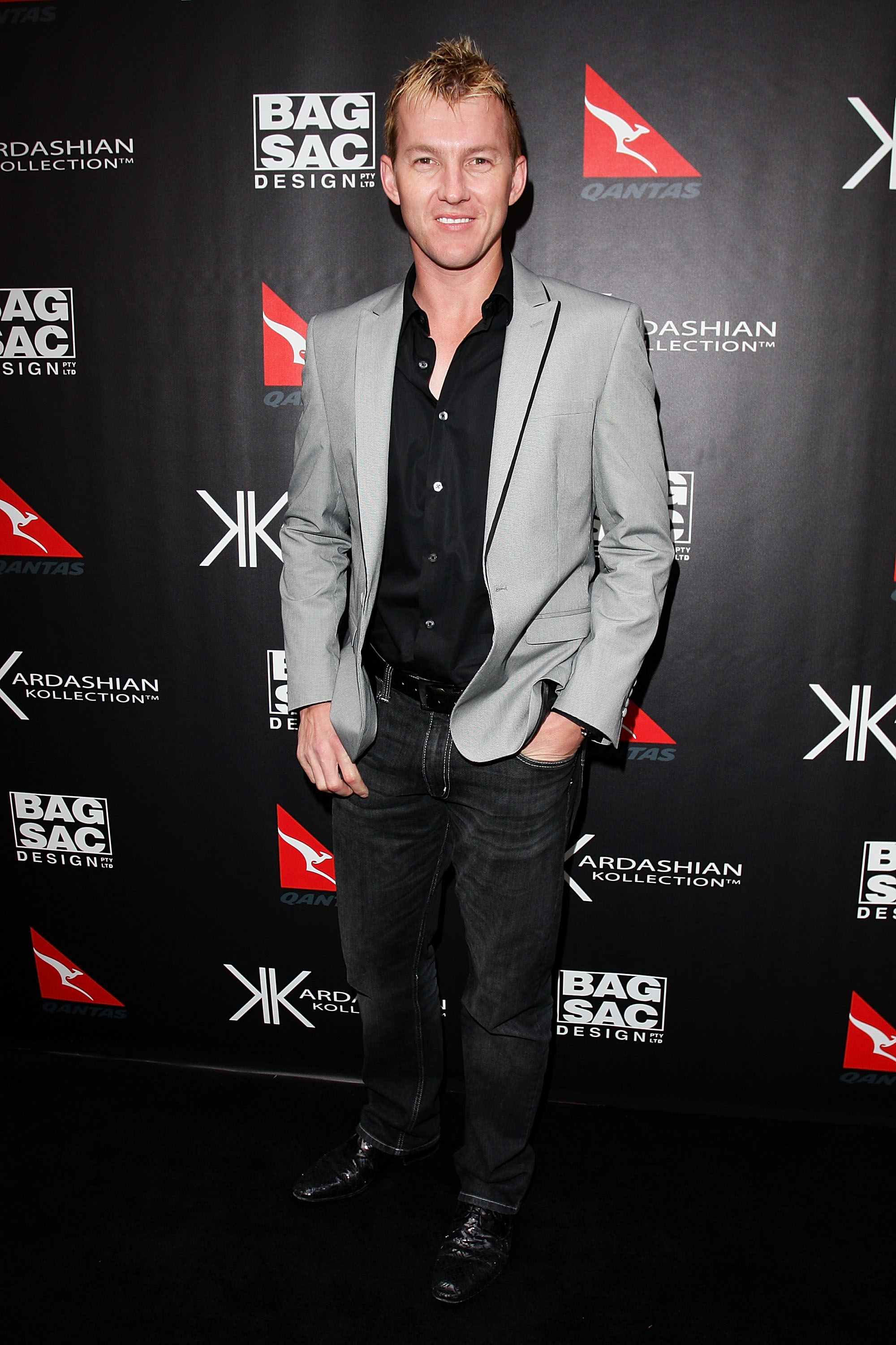 Brett Lee at the Kardashian Kollection launch.