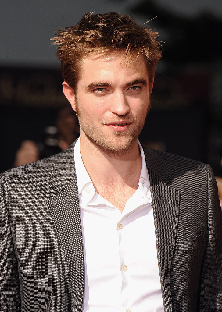 Robert Pattinson left his shirt open in the LA sun.