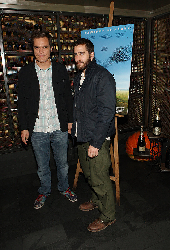 Jake Gyllenhaal and Michael Shannon looked cool and casual in NYC.