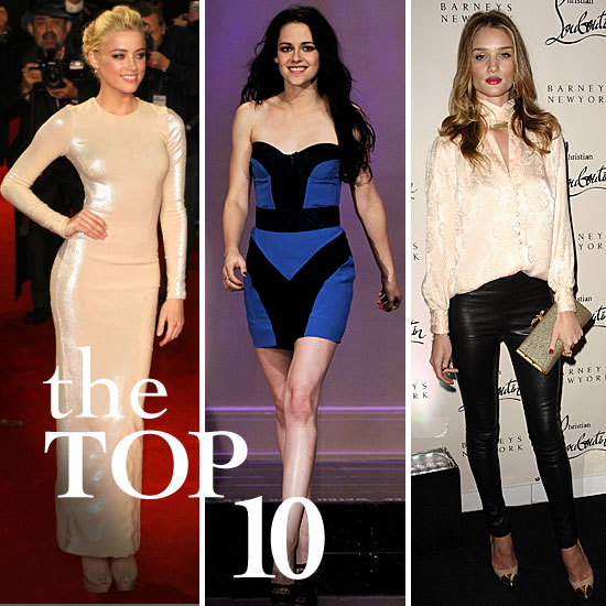 Fab's Top 10 Celebrity Looks of the Week — Amber, Kristen, Rosie, and More!