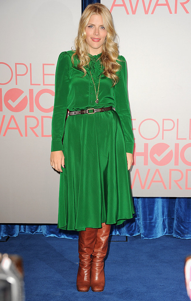 Busy Philipps wearing green to the 2011 People's Choice Awards nominations.