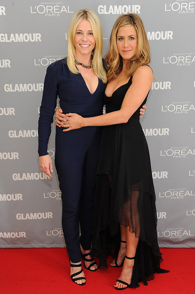 Chelsea Handler and Jennifer Aniston showed their allegiance to one another.