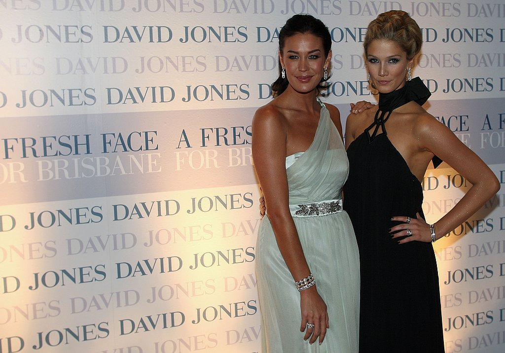 Delta joined Megan Gale at the official opening of a new David Jones store in Brisbane in Feb. 2008.