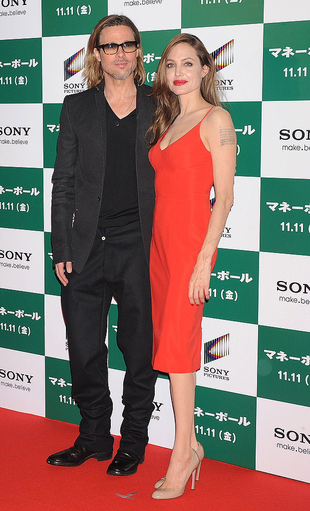 Brad Pitt and Angelina Jolie in Japan together.