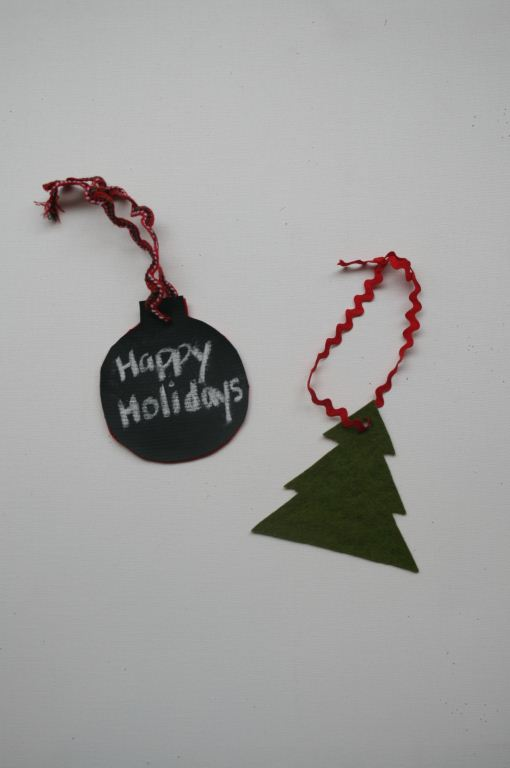 Felt and Chalkboard Ornaments/Gift Tags