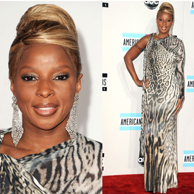 Mary J. Blige at 2011 American Music Awards
