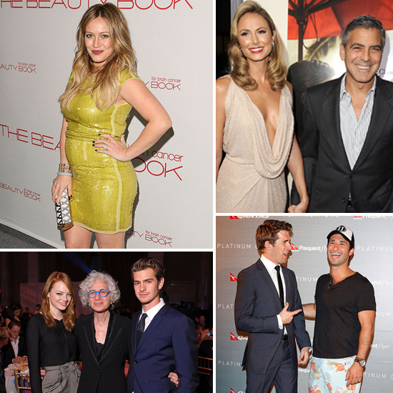 Celebrity Pictures of Pregnant Hilary Duff, George Clooney, Stacy Keibler, Emma Stone, Hugh Sheridan
