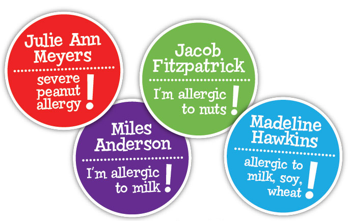 Allergy Labels ($16 For 24)