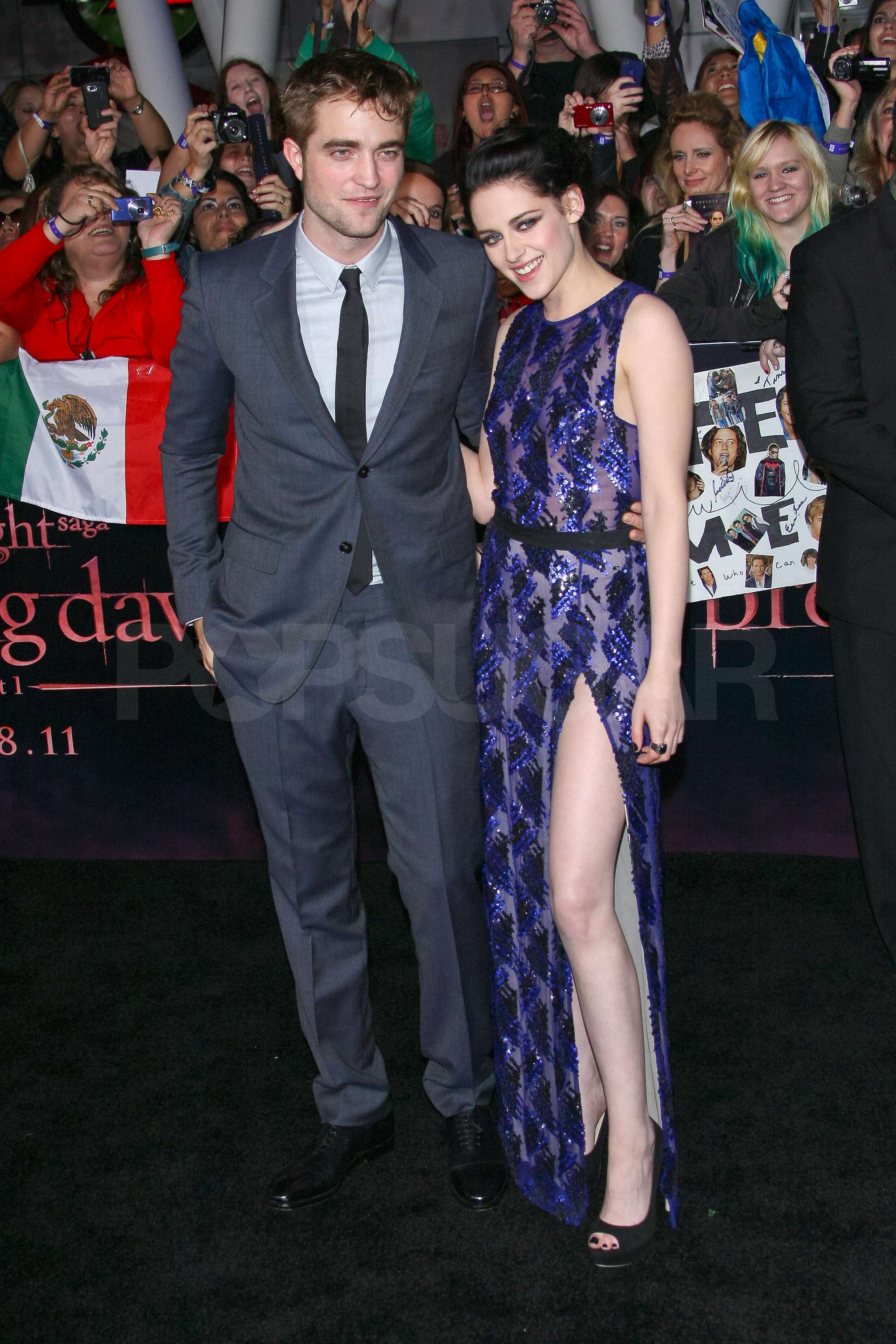 Kristen Stewart and Robert Pattinson held close to each other while they enjoyed their night in the spotlight.