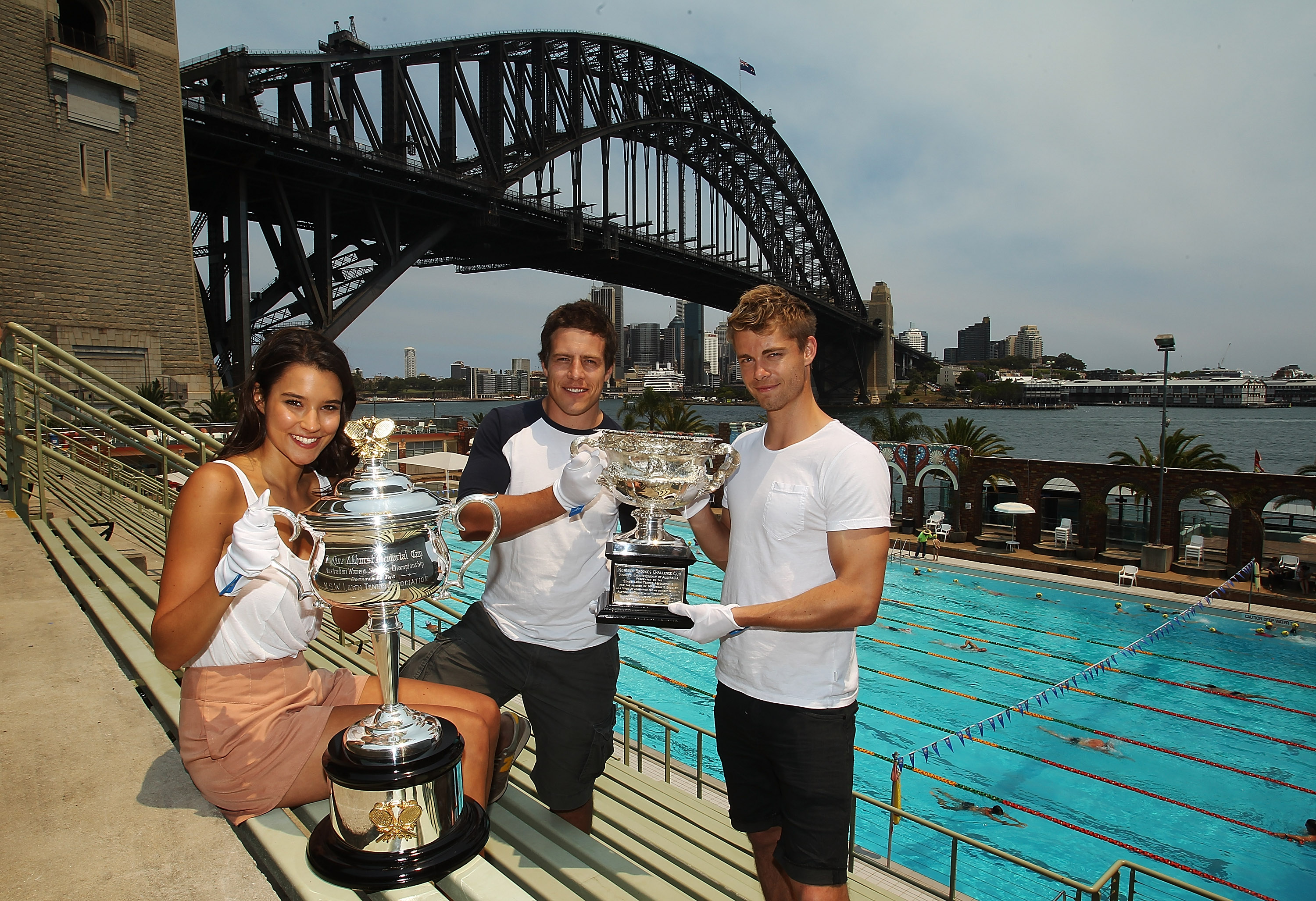 Rhiannon Fish, Steve Peacocke and Luke Mitchell